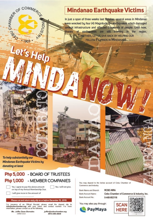 Let's Help MindaNOW: CCCI donation campaign calls for support   Cebu Finest