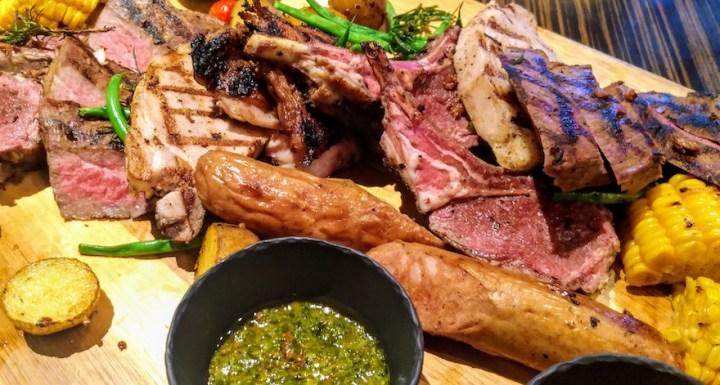 Enjoy high-quality meats, the Churrasco Platter, at Marble + Grain Steakhouse | Cebu Finest