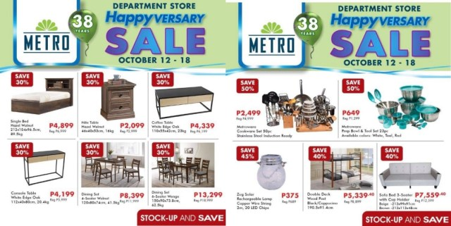 For the home, get a big price off of up to 70% on ready-made curtains, 50% off on baking essentials, and 40% off on great furniture selection. | CebuFinest