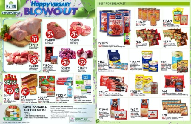 The shower of discounts, buy 1 take 1 and freebies to continue at the Supermarket with more sale items to choose from. | CebuFinest