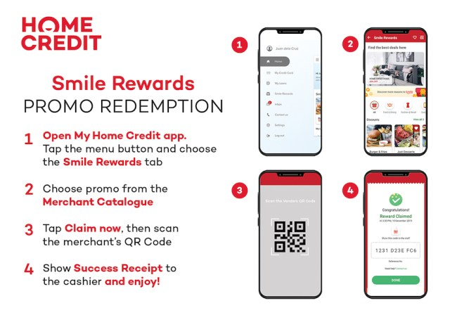 Follow this simple guide on how to use Smile Rewards on the My Home Credit app