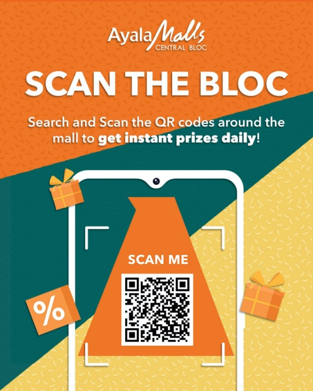 Shoppers are invited to Scan the Bloc by keeping an eye out for QR codes placed around the mall then scan them to unlock exclusive prizes.   CebuFinest