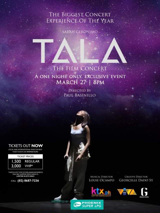 "Sarah G.'s ""TALA: The Film Concert"" to premiere on March 27th, tickets go on sale 