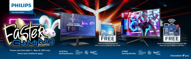 Philips Gaming Monitors partners up with Globe, launches Easter Gaming Promo | CebuFinest