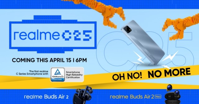 realme launches realme C25 on April 15, offers a new standard of reliability for everyday challenges | CebuFinest
