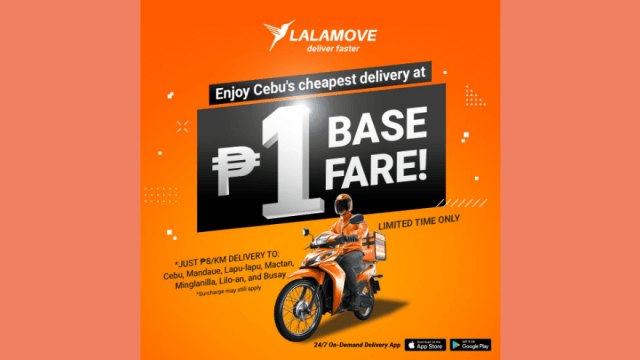 Enjoy Piso Base Fare Motorcycle Deliveries with Lalamove | CebuFinest