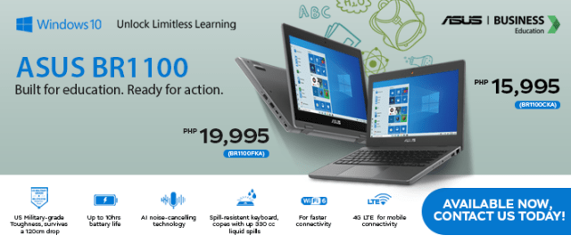 ASUS introduces the new ASUS BR1100, the laptop ideal for teachers and students with distance learning   CebuFinest