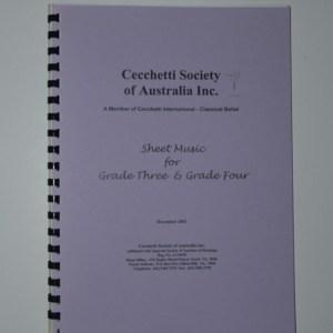 Grade 3/4 Sheet Music