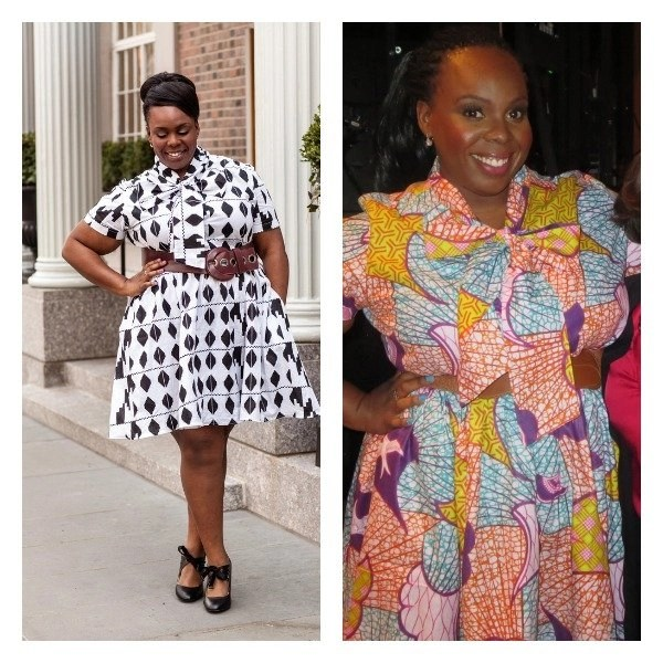 CeCe Olisa Plus Size African Print Dress Wendy Williams Collage.jpg
