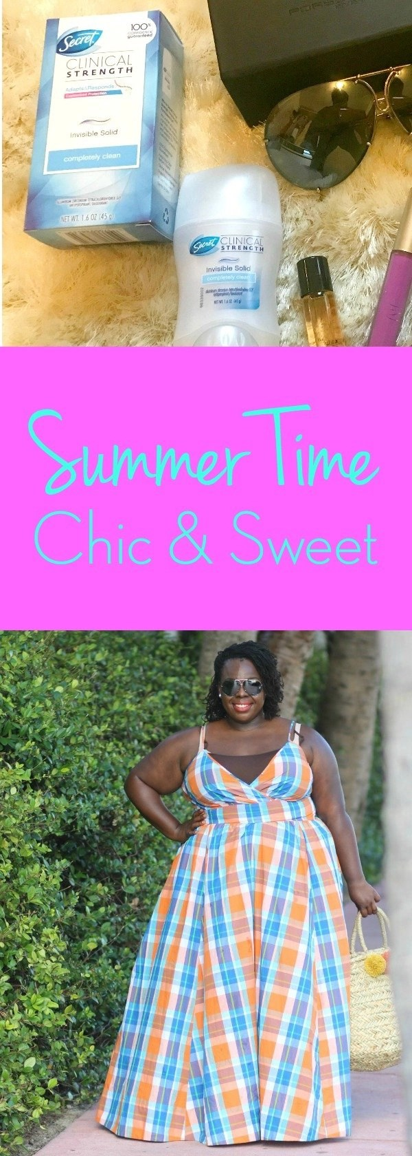 Summer Time Chic & Sweet with Secret Clinical Strength