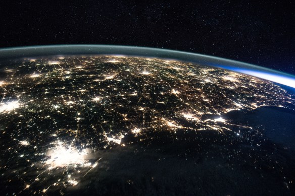NASA astronaut Scott Kelly took the photo above of Houston and the Gulf Coast as the International Space Station flew overhead.