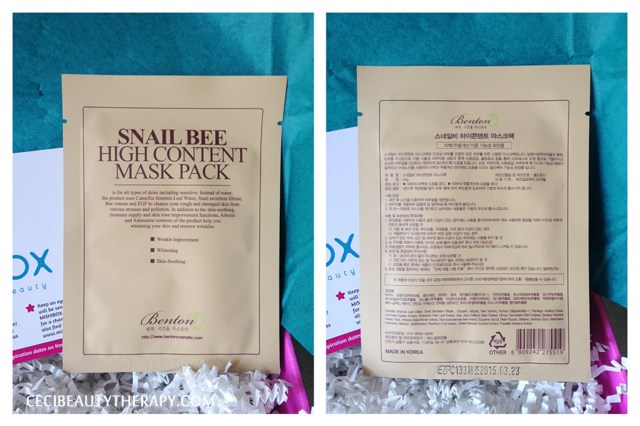 mishibox launch first june box unboxing benon snail bee high content mask pack