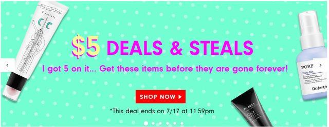 Memebox $5 Sale July 2015