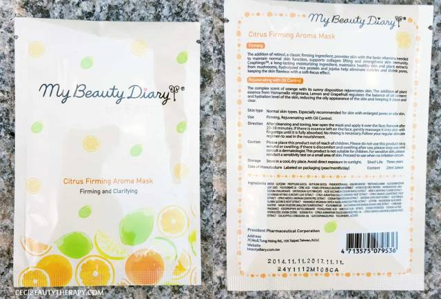 Beauteque-Mask-Maven-August-Review My Beauty Diary Citrus Aroma