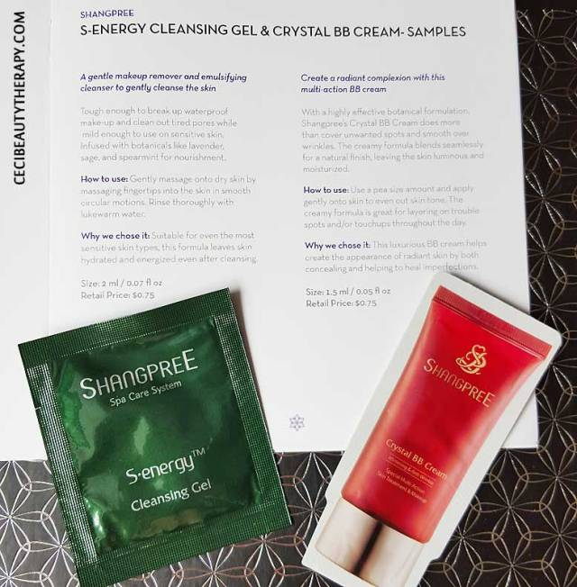 Shangpree S-Energy Cleansing Gel and Crystal BB Cream - Samples