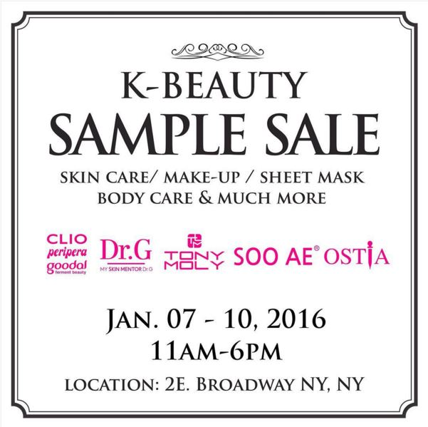 K-Beauty Sample Sale! Club Clio, Peripera, Goodal at Deep Discounts in Chinatown, NYC – UPDATED 1/9/16