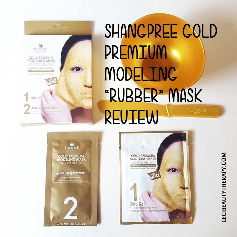 "Review: Shangpree Gold Premium Modeling ""Rubber"" Mask from Peach & Lily"