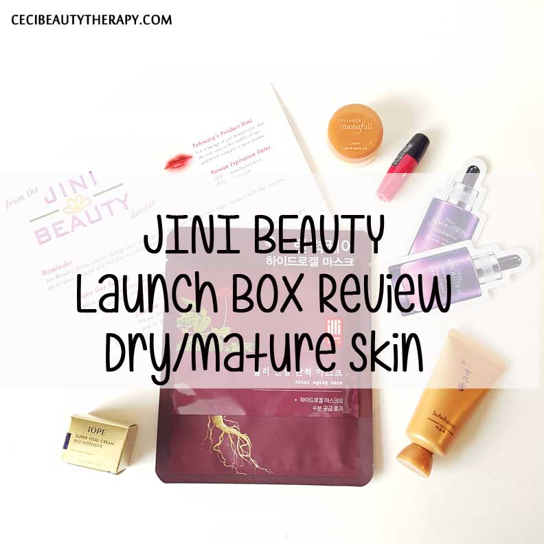 Jini Beauty K-Beauty Subscription Box Launches! Feb 2016 Review for Dry/Mature Skin