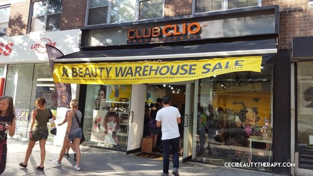 Club Clio Goodal Peripera JKNLEE Kbeauty Sample Sale Union Sq NYC 2017