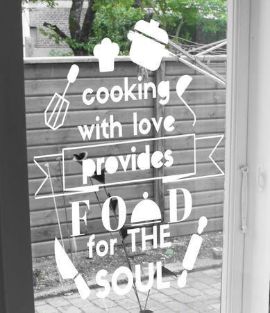 raamtekening keuken quote