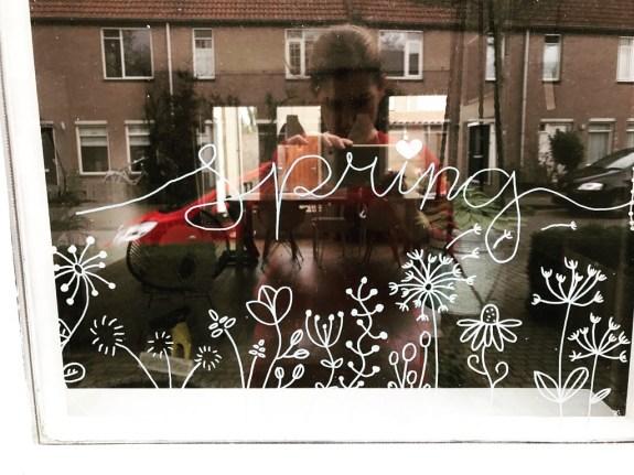 Krijtstifttekening Spring_Door Anke