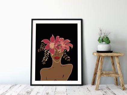 Vrouw See print_ illustratie Ceciel Maakt