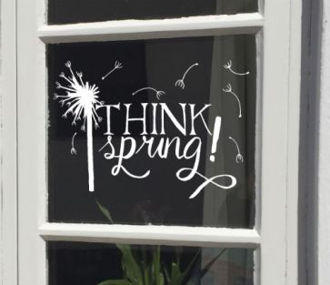 raamtekening lente, raamtekening think spring