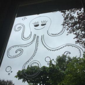 raamtekening octopus