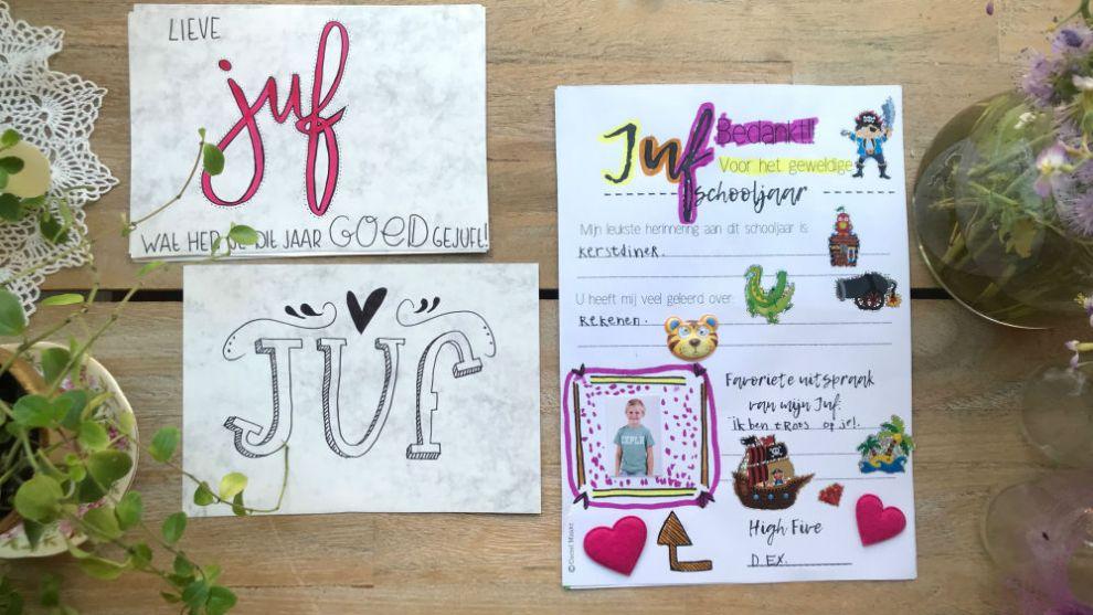 Juffendag printable – kado voor juffendag