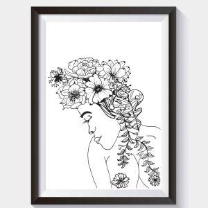 Bloemen meisje poster