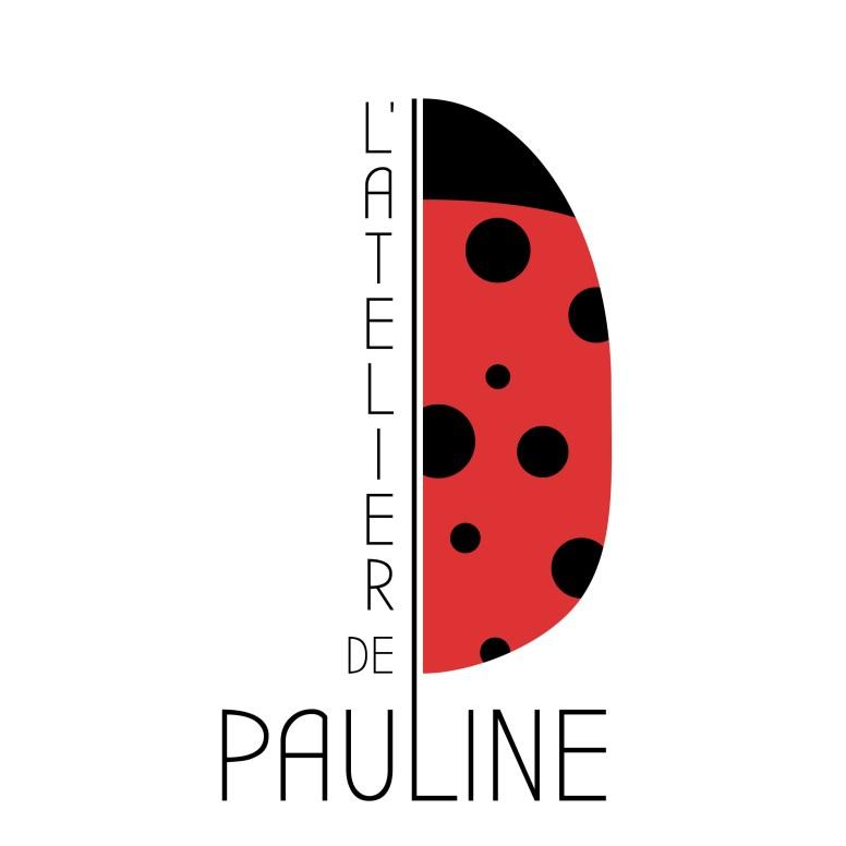 logo atelier de pauline styliste ongulaire representant une coccinelle sur fond blanc