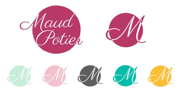 Logo et ses déclinaisons de Maud Potier Sophrologue Hypnothérapeute, Coach et Formatrice