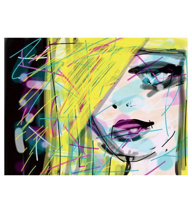 Dessin Blondie créé par Cécile Jonquières Graphiste webdesigner illustratrice 31