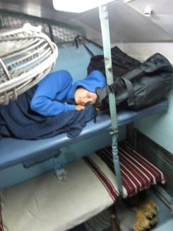 Maike in der Sleeper-Class