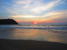 Sonnenuntergang am Kudle Beach