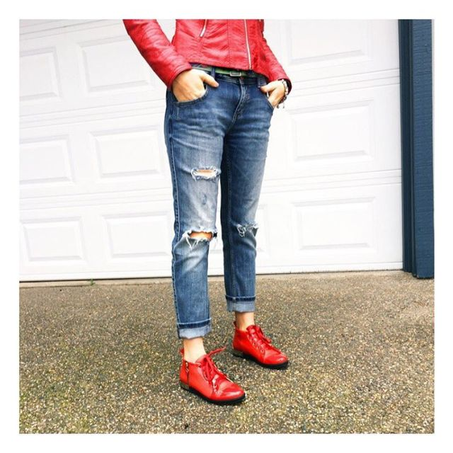 Ripped jeans zarausa and red shoes will be my gohellip