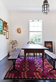coveting this dining room design too! (...don't even get me started on the rug and stark white walls)!