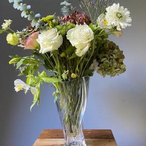 florero cristal lujo