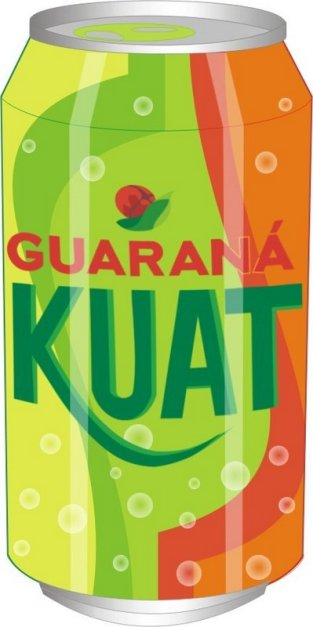 Opção de nova embalagem para Guaraná Kuat