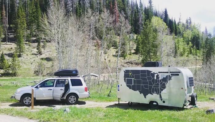 Vintage camper rebuild