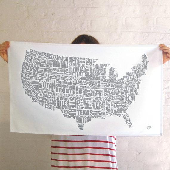 map tea towel