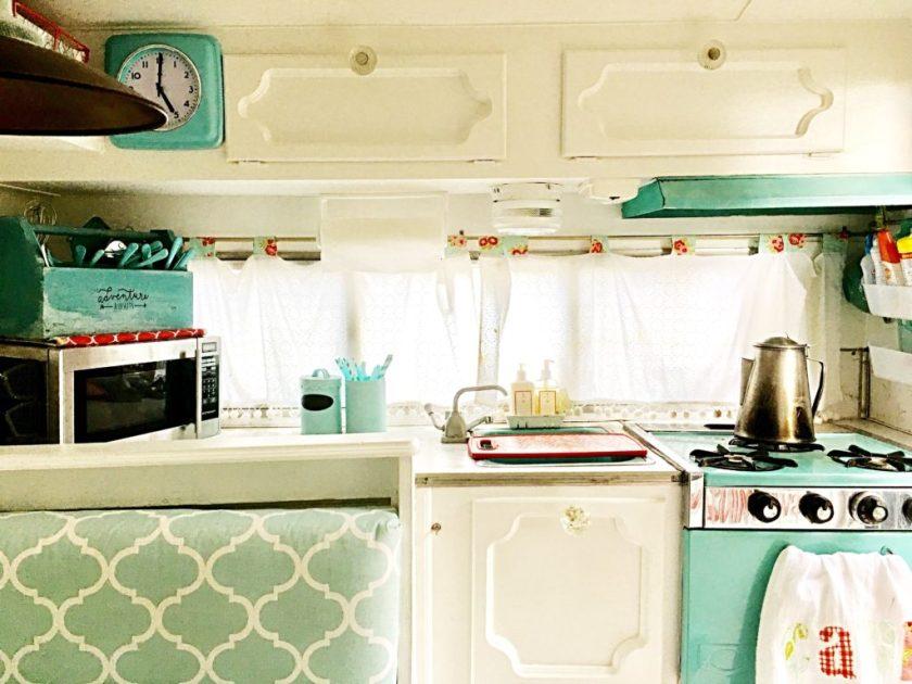 vintage trailer kitchenette
