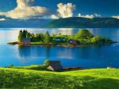 Beautiful small island - the coast of Norway.