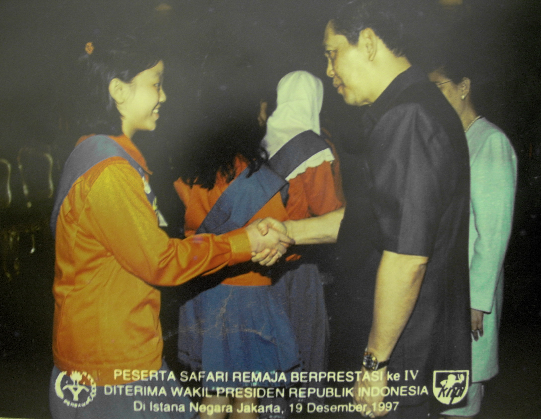 With Vice President Try Sutrisno