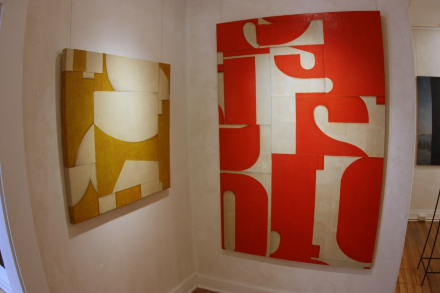 exhibition photo of a paintings by Cecil Touchon at Nuart Gallery in Santa Fe, New Mexico