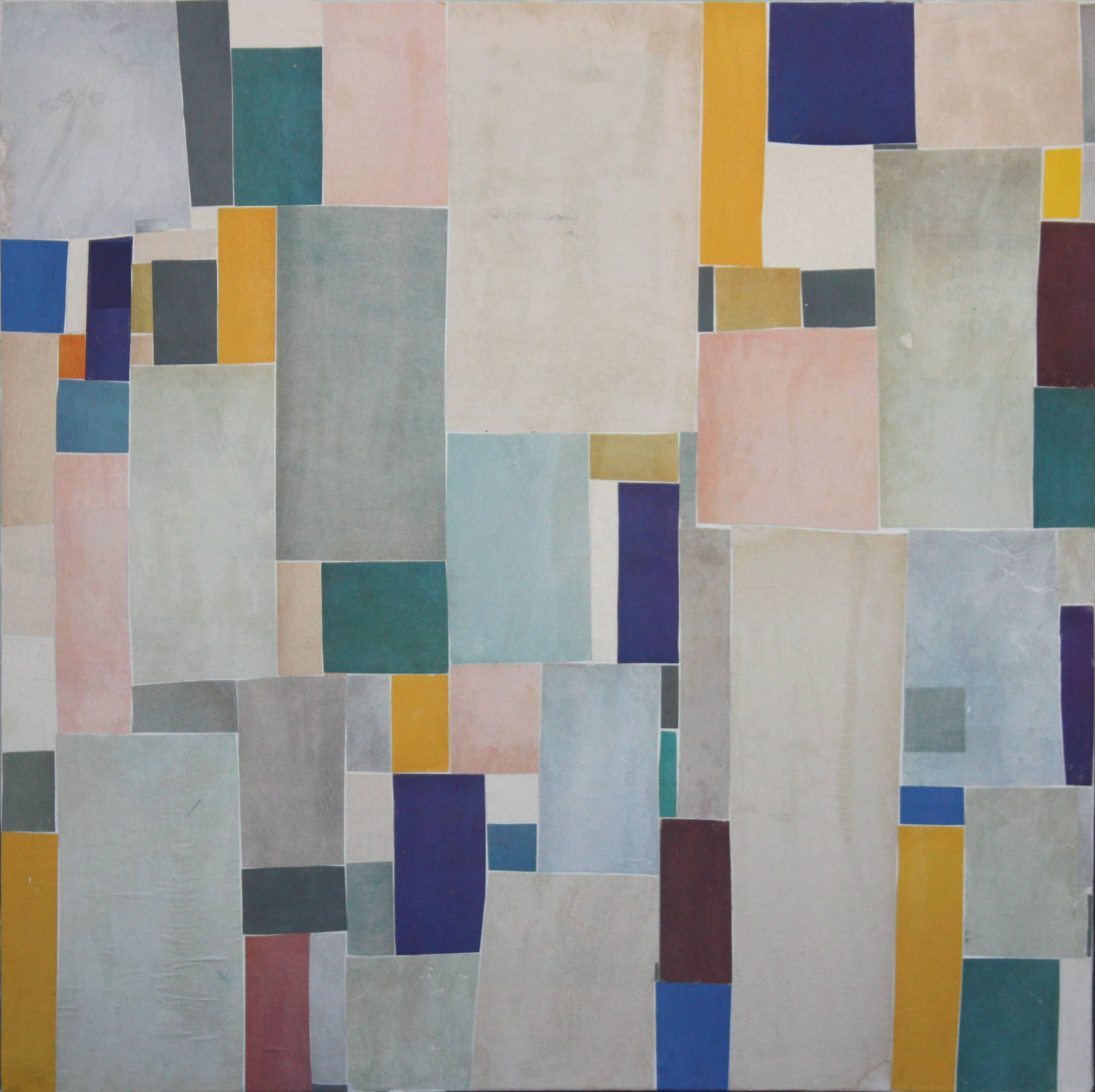 Post Dogmatist Painting #509 - 2011 - 20x20 inches - collage on canvas