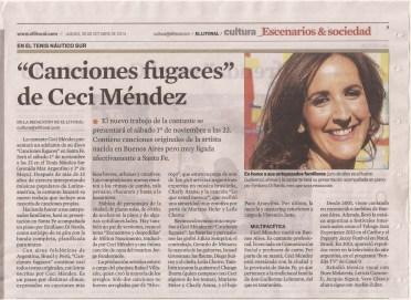 Articulo Diaro El Litoral 30 Oct 2014