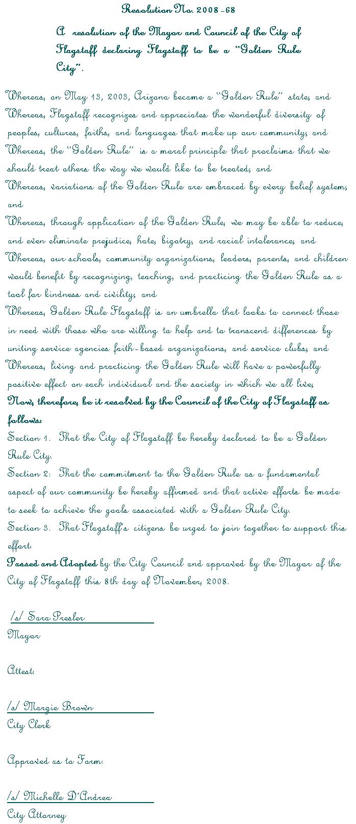 Golden Rule Resolution - Smaller