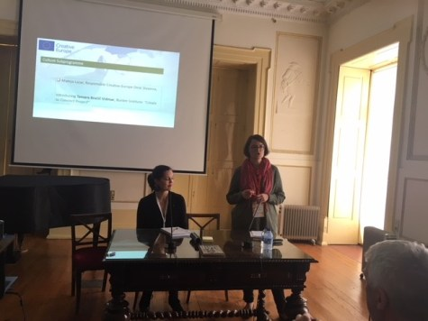 IETM Porto Plenary Meeting 2018 – Creative Europe Showcase: Mateja Lazar in Tamara_Bračič.