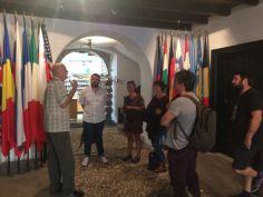 Partnerji projekta CON-FRONT na ogledu Kobariškega muzeja.